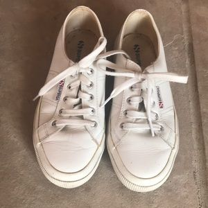 White leather Superga size EU 37.5 or 7 US
